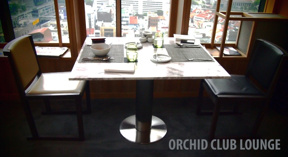 Table by the Window  @ Parkroyal Orchid Club Lounge