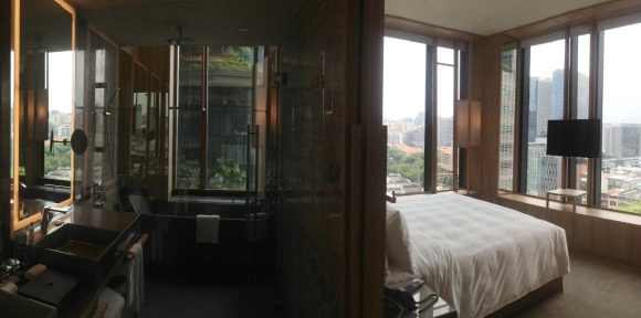 Panorama of Bathroom & Bedroom @ Parkroyal on Pickering